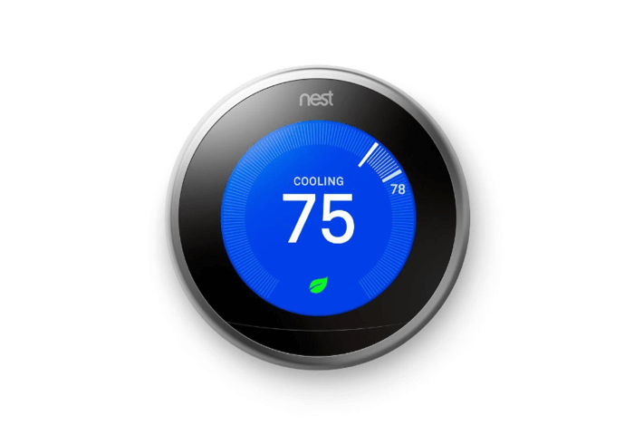 Google Nest Learning Thermostat - Stainless Steel